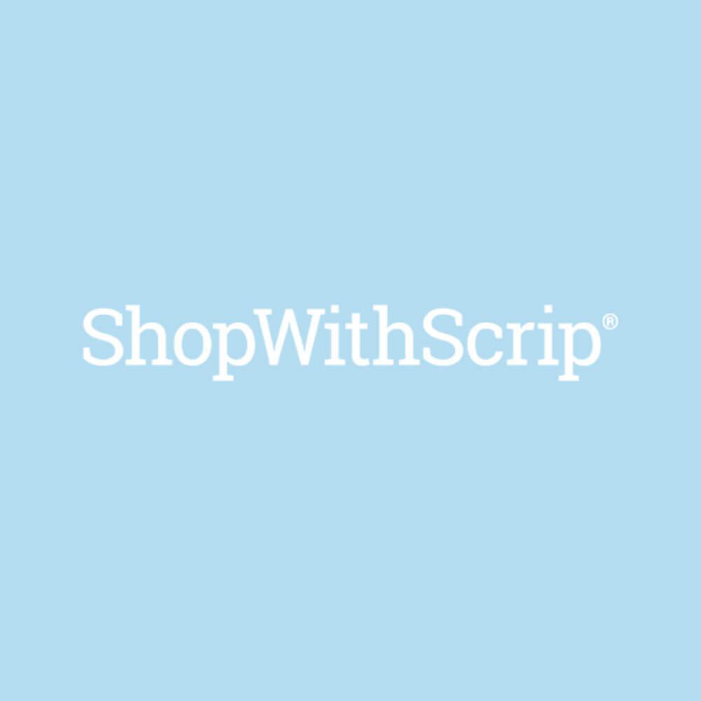 Shop with scrip logo